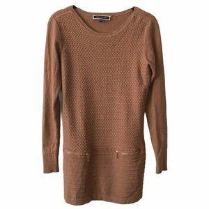 Melanie Lyne Brown Long Sleeve Knit Dress small